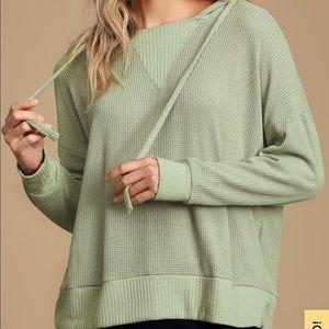 Lulus Getting Warmer knit thermal hoodie